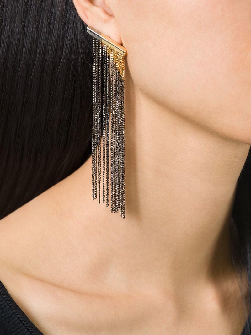 Maison Martin Margiela Link Earrings in Metallics MYlsGq5Q