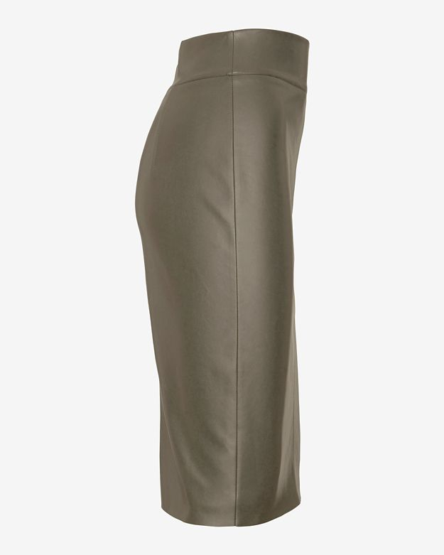 c5436edc97 Lyst - Bailey 44 Leather Like Pencil Skirt: Olive in Green