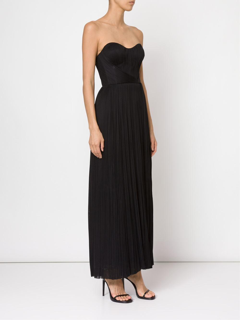 Black bustier evening dress