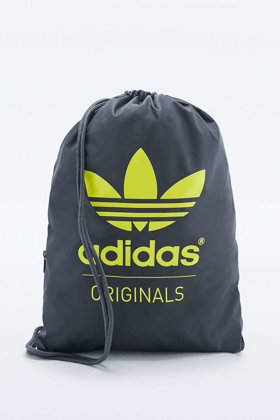 Adidas Originals Grey Drawstring Bag In Gray For Men Lyst