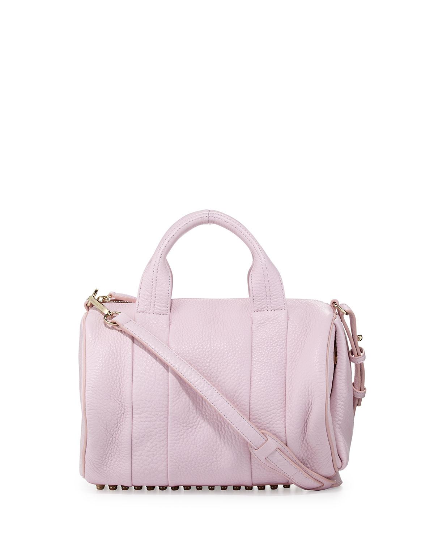 alexander wang rocco studbottom satchel bag gummy pink in. Black Bedroom Furniture Sets. Home Design Ideas