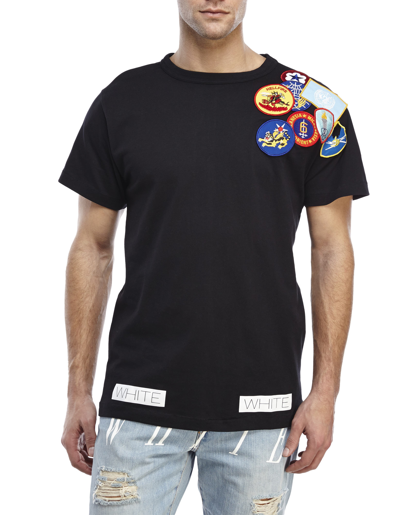 Lyst off white c o virgil abloh embroidered patch t