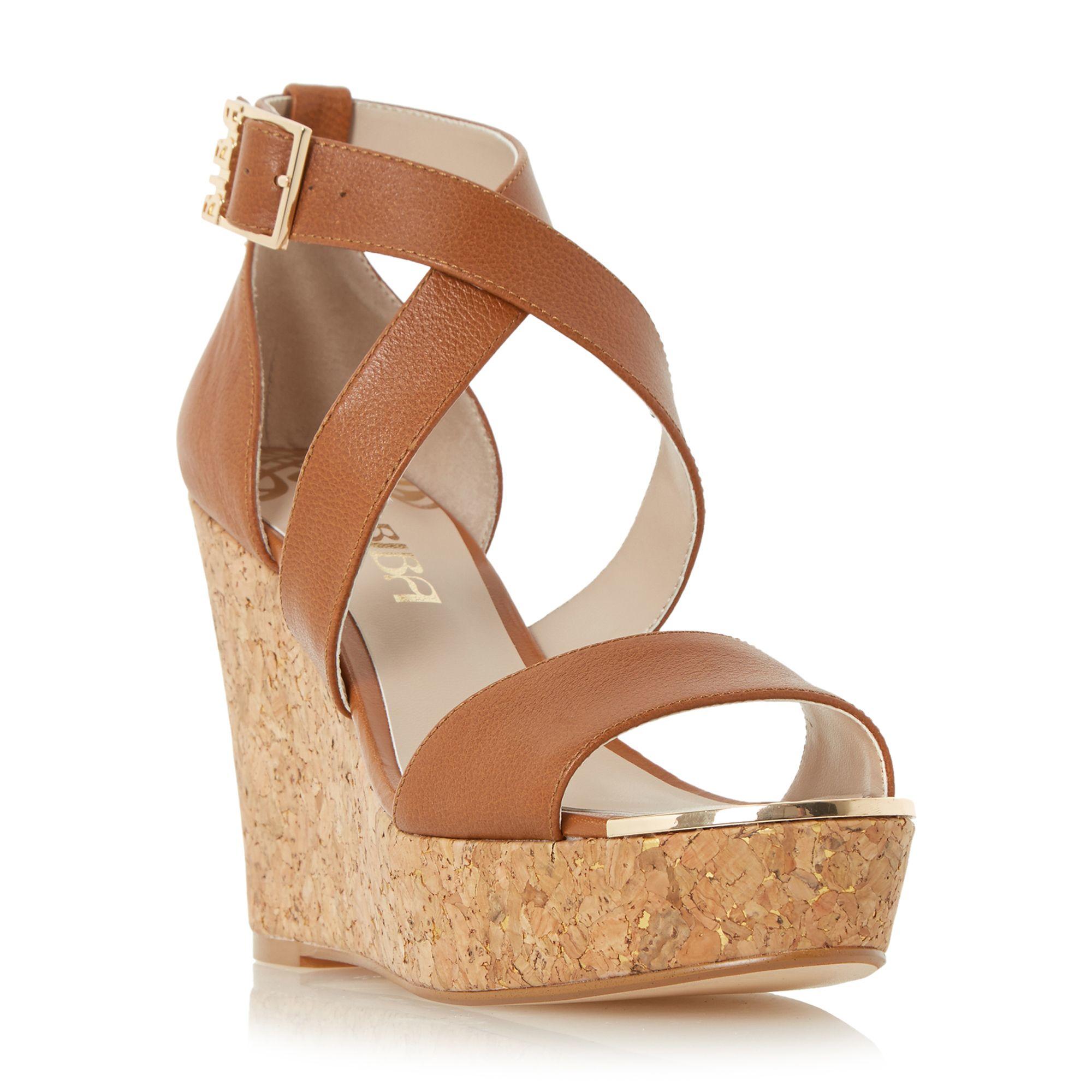 biba kanya wedge sandals in brown lyst