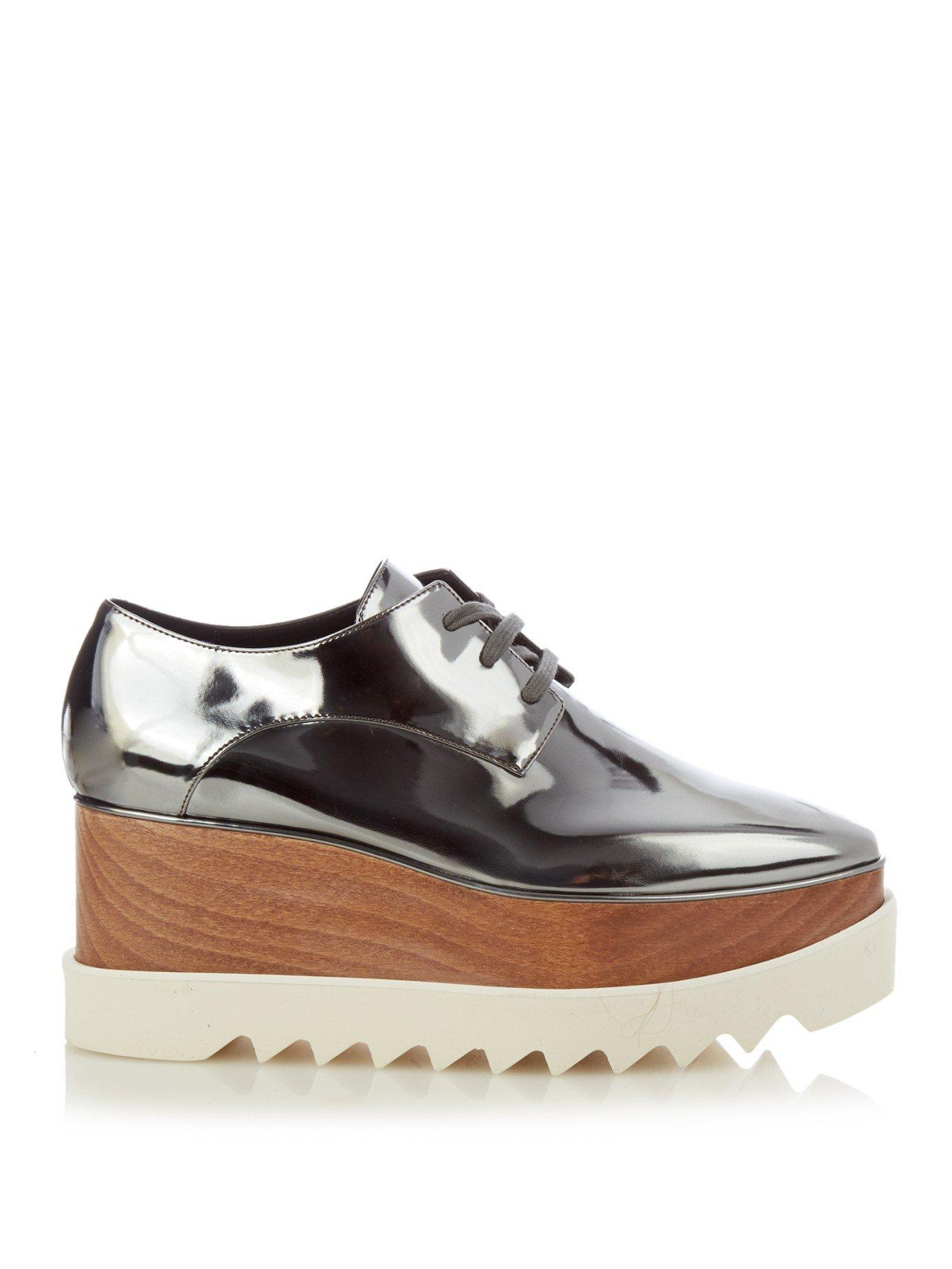 Lyst Stella Mccartney Elyse Faux Leather Platform Shoes