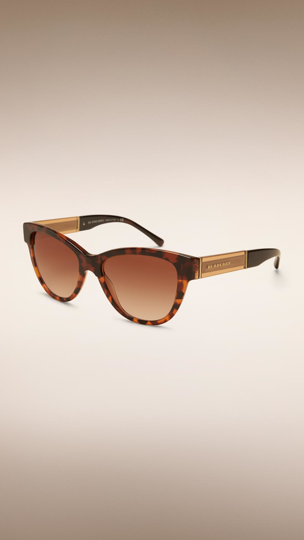c010c3e14aeb Lyst - Burberry Cat-eye Sunglasses Tortoise Shell in Brown