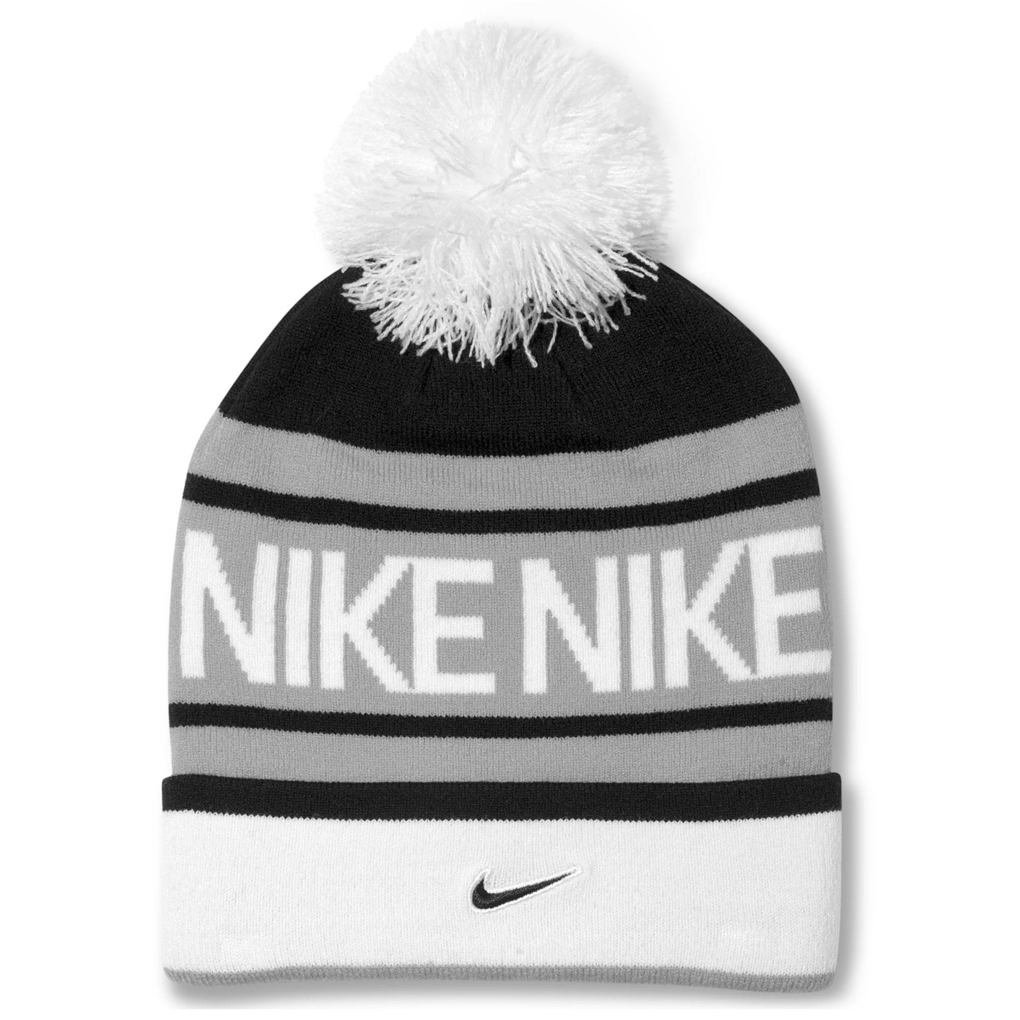 790652e798d Lyst - Nike Pom Pom Beanie in Black for Men