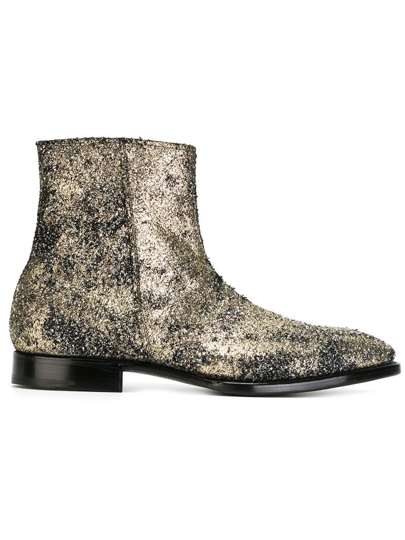 Lyst Premiata Ankle Length Flat Boots In Metallic For Men