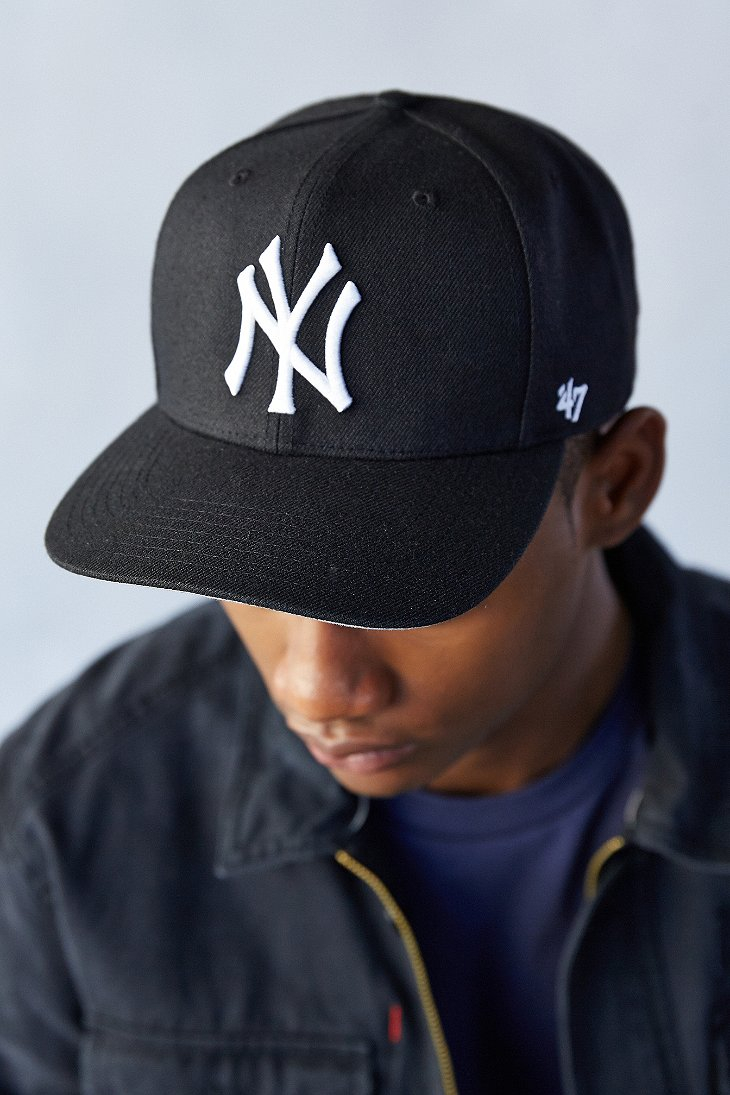 Lyst 47 Brand Sure Shot Yankees Snapback Hat In Black