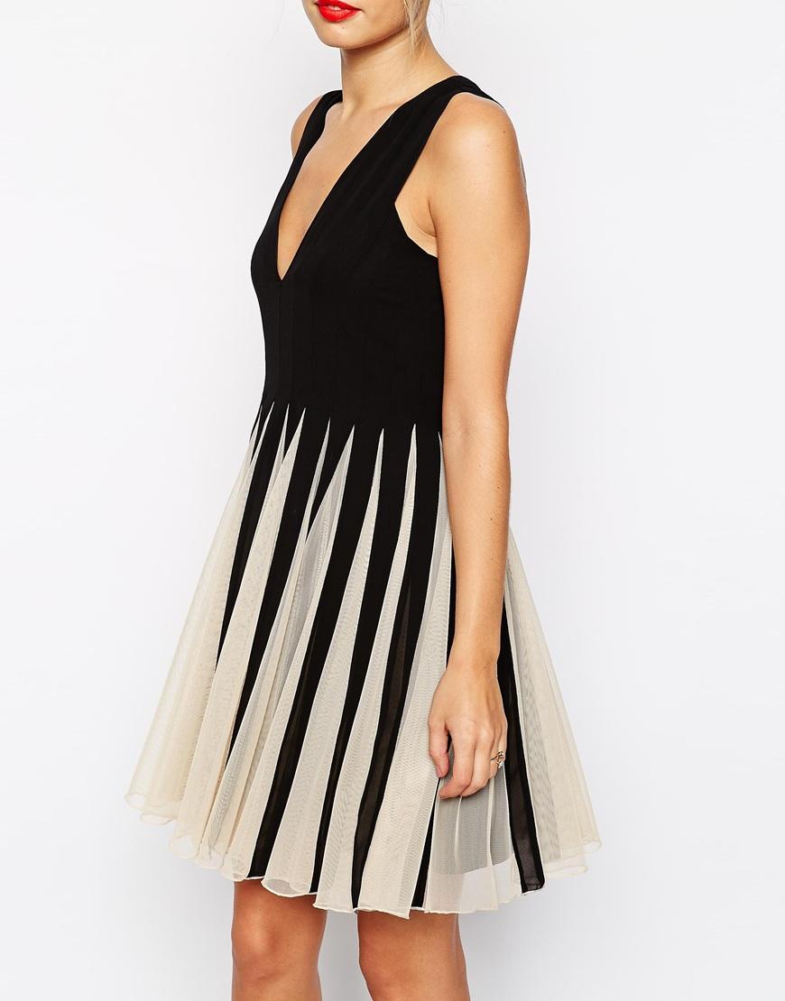 Mesh Fit and Flare Mini Dress - Mono Asos EzdIxqE