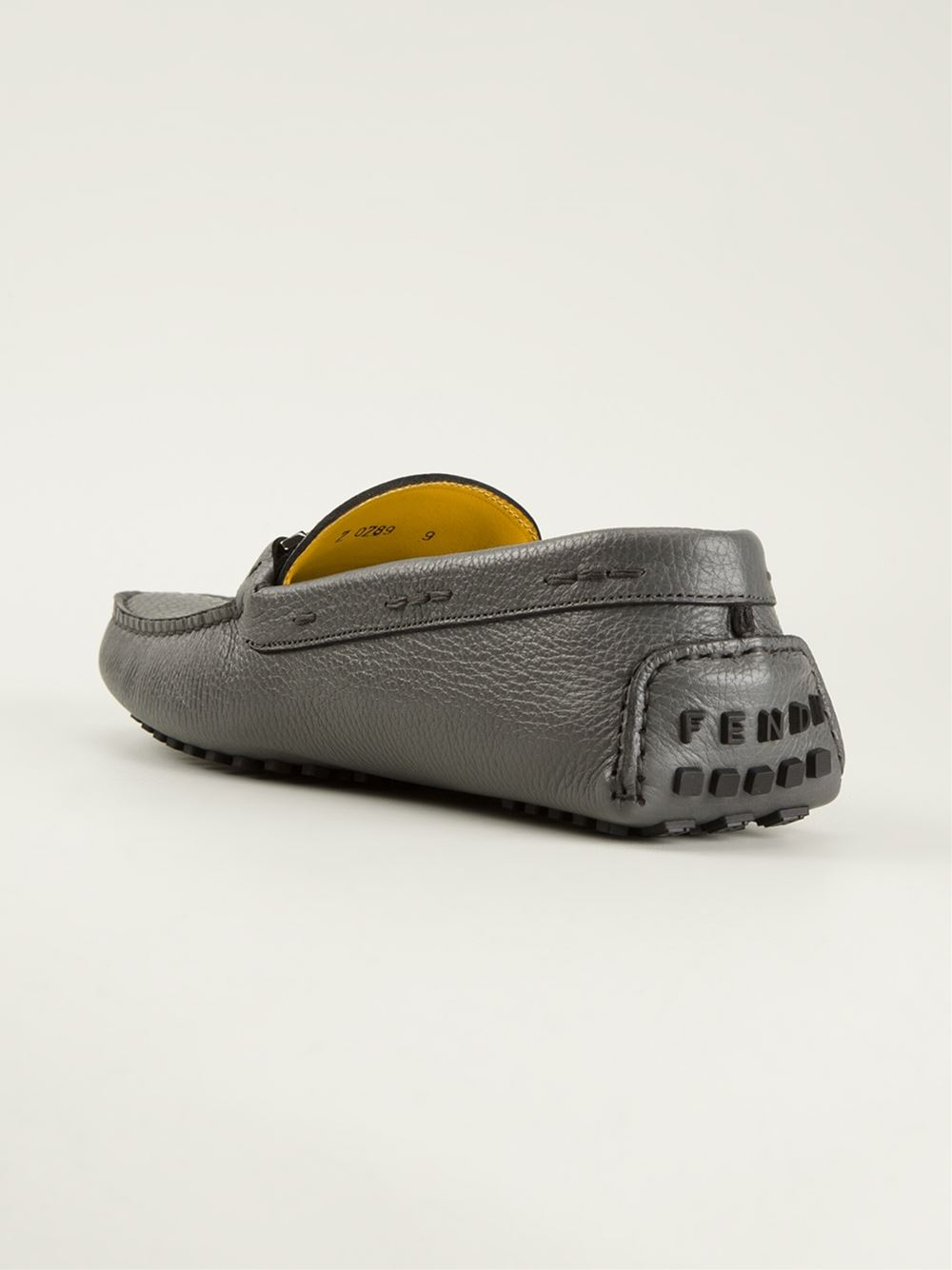 ced3d00244d Lyst fendi signature driving loafers in gray for men jpg 1000x1334 Fendi  loafers