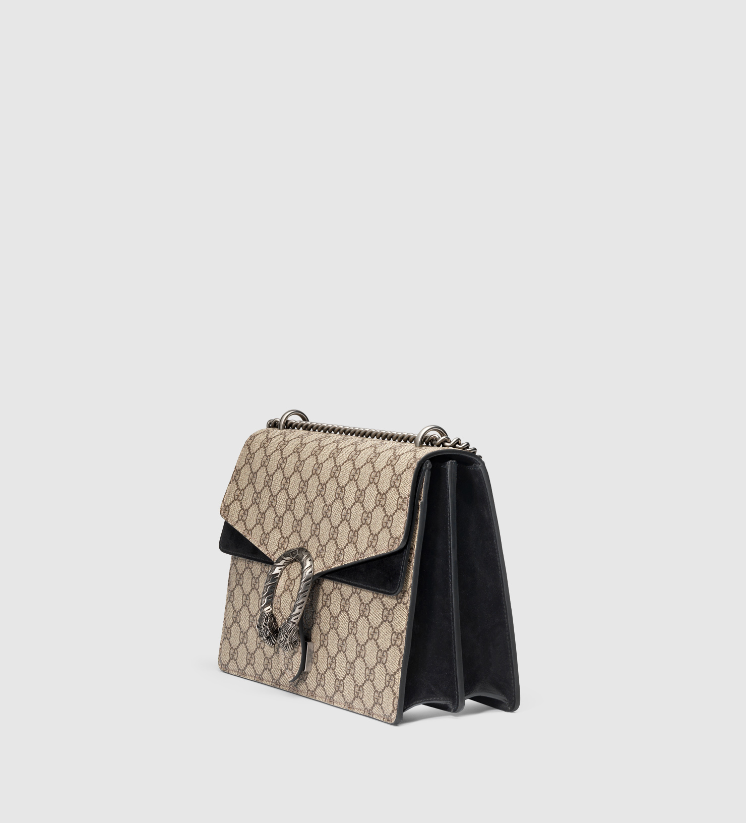 e50d2c0595 Lyst - Gucci Dionysus Gg Supreme Shoulder Bag in Natural