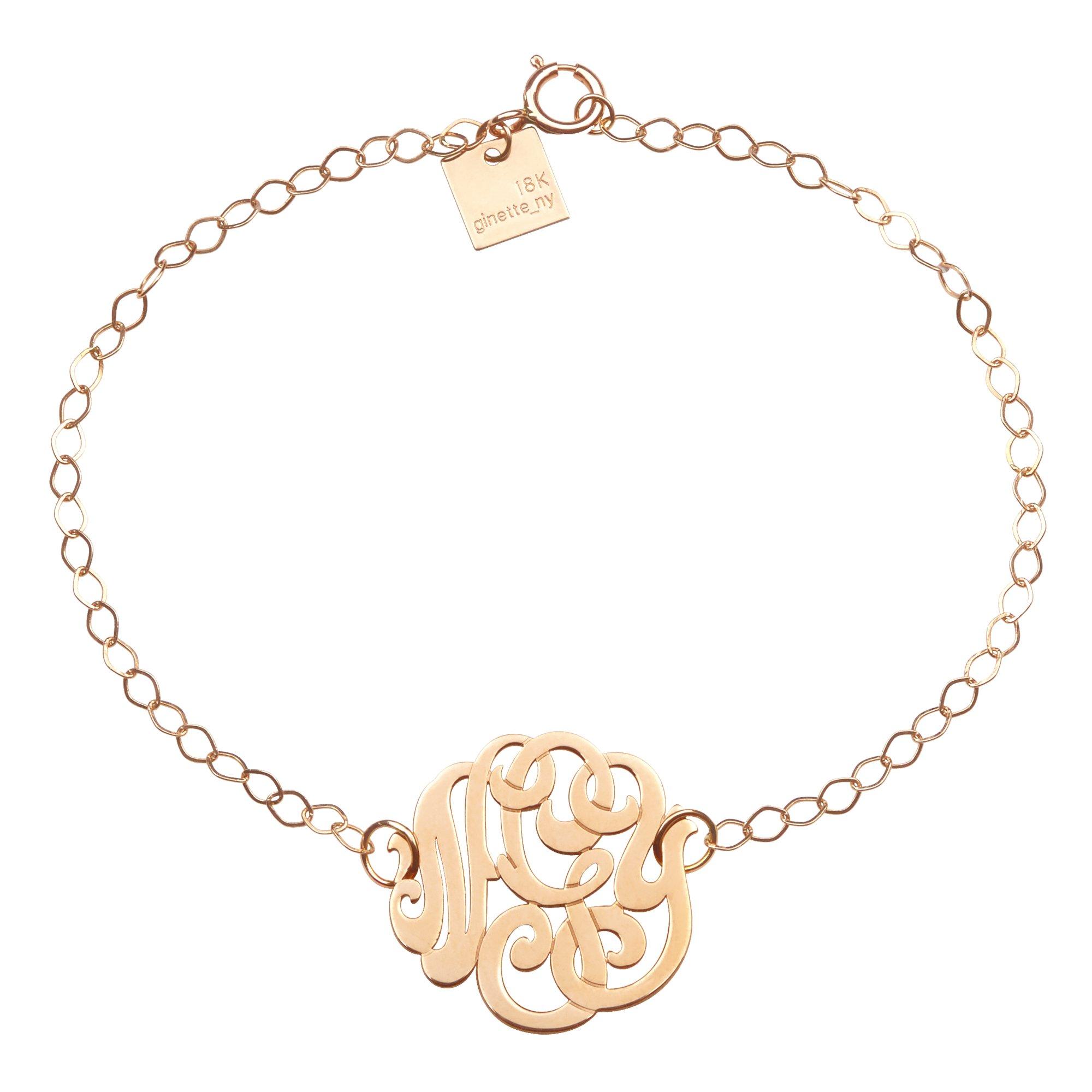 ginette ny monogramme bracelet in metallic lyst