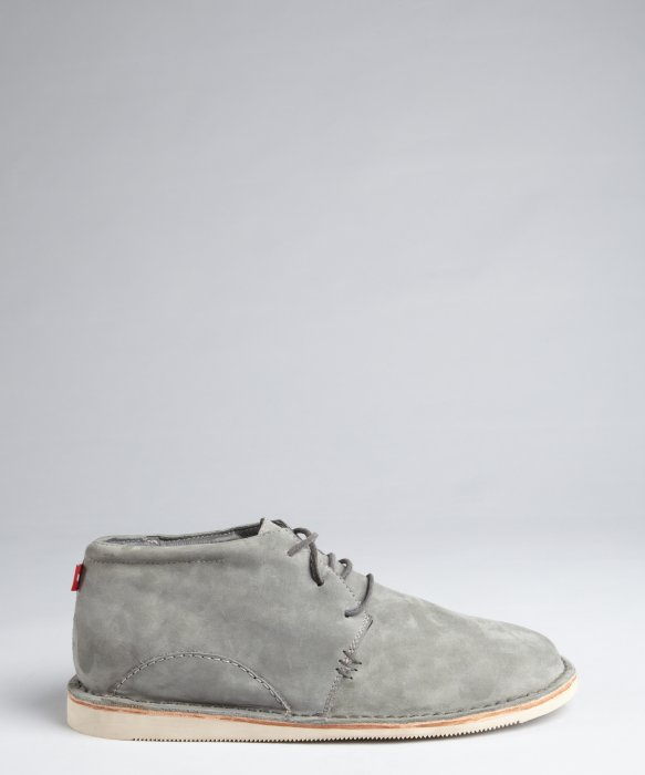 Lyst Oliberte Dark Grey Suede Aibo Chukka Boots In Gray