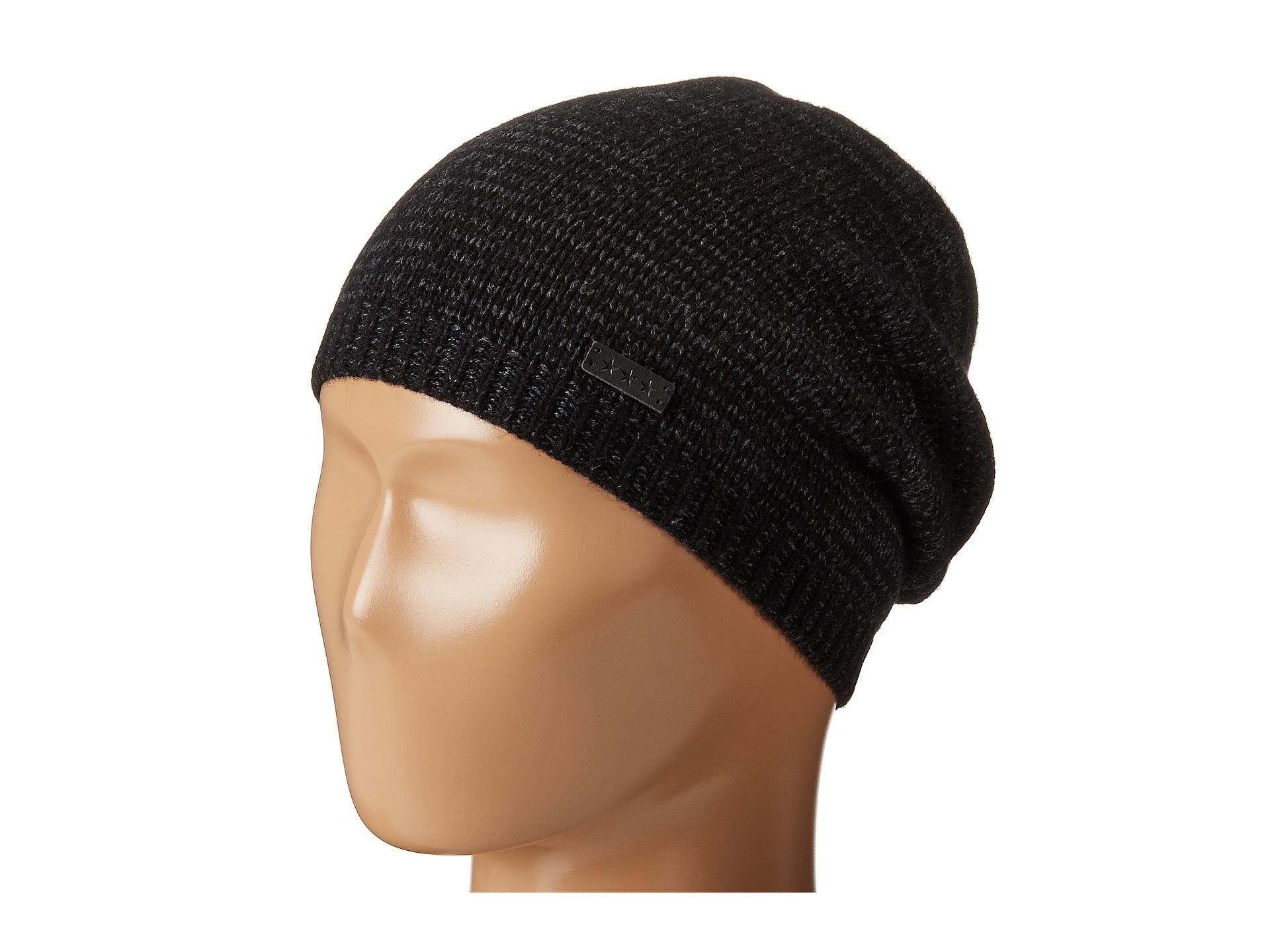 Lyst - John Varvatos Ombre Random Feed Knit Hat in Black for Men 3da883801a2