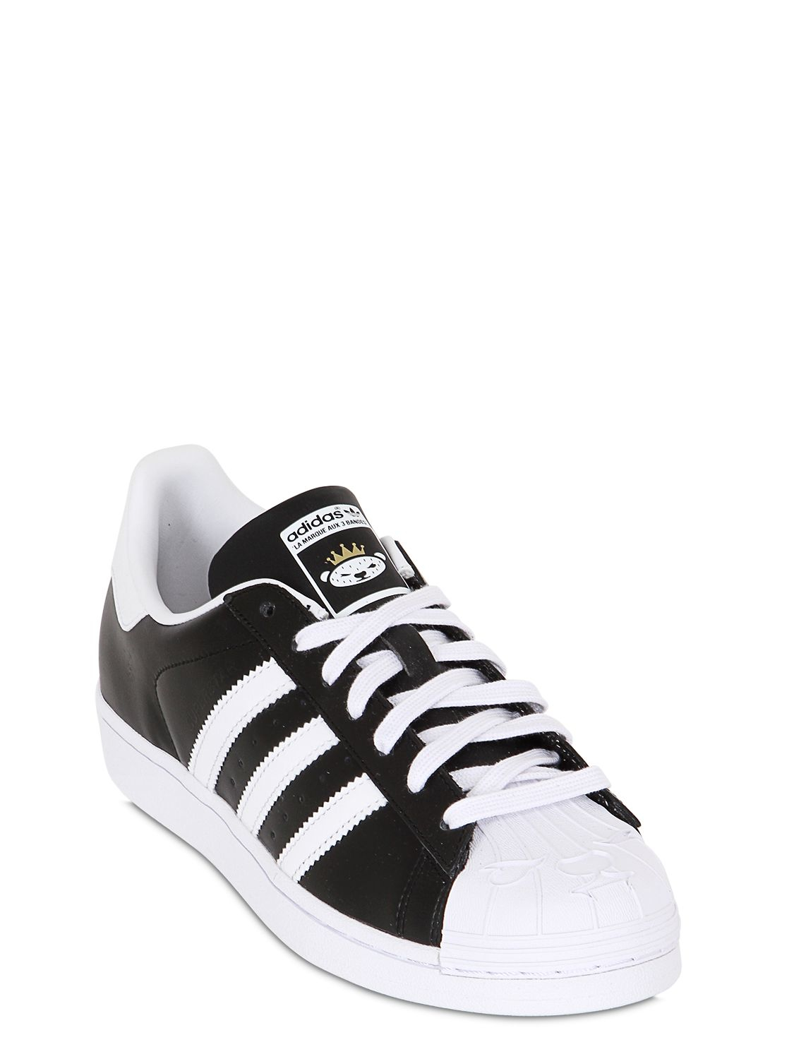 Adidas Superstar Black And White Leather ...