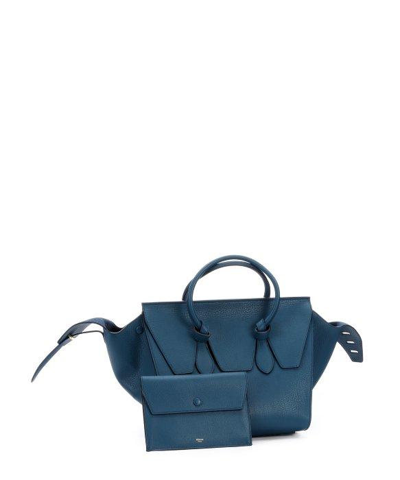 C¨¦line Metallic Blue Leather \u0026#39;Tie Knot\u0026#39; Tote Bag in Blue | Lyst