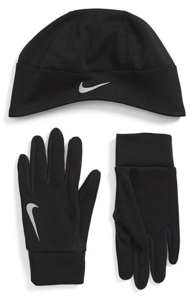 Lyst - Nike Therma-fit Runner Beanie   Gloves in Black for Men ee7956fcffe