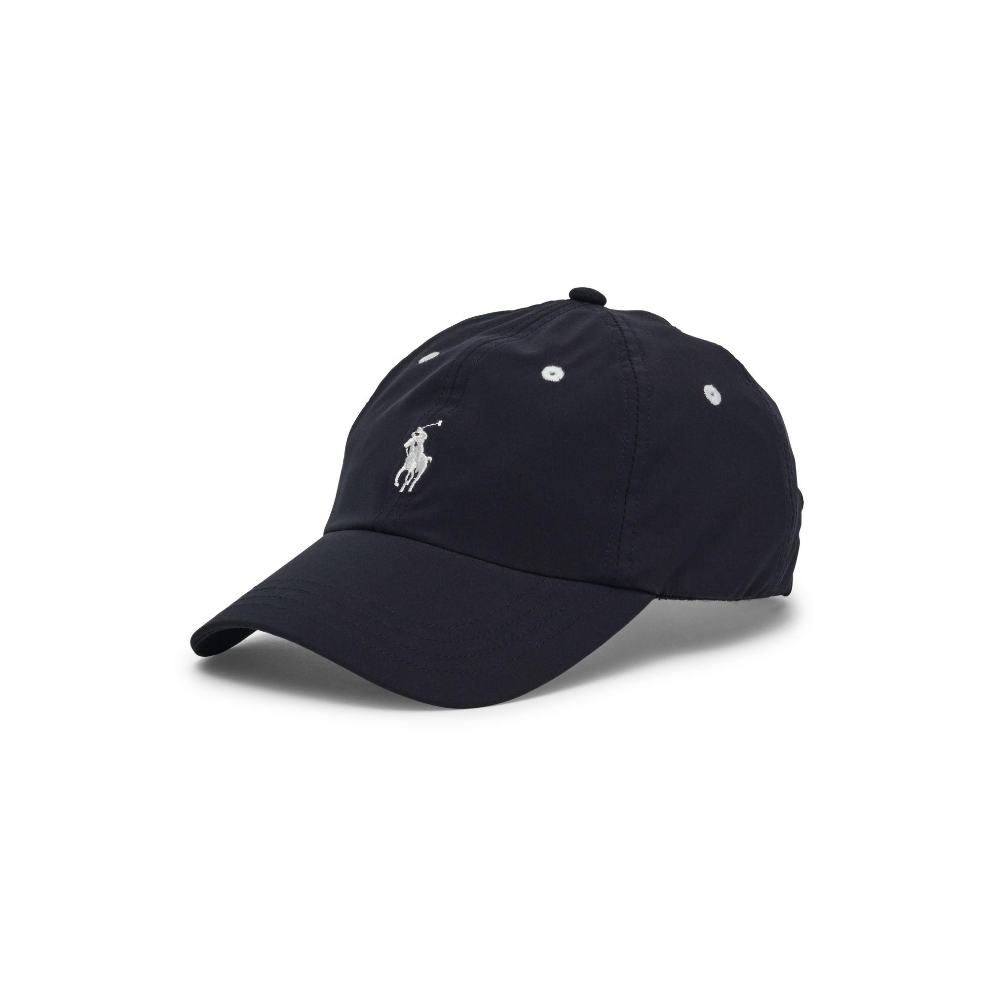ralph lauren golf terry headband golf cap in black lyst. Black Bedroom Furniture Sets. Home Design Ideas