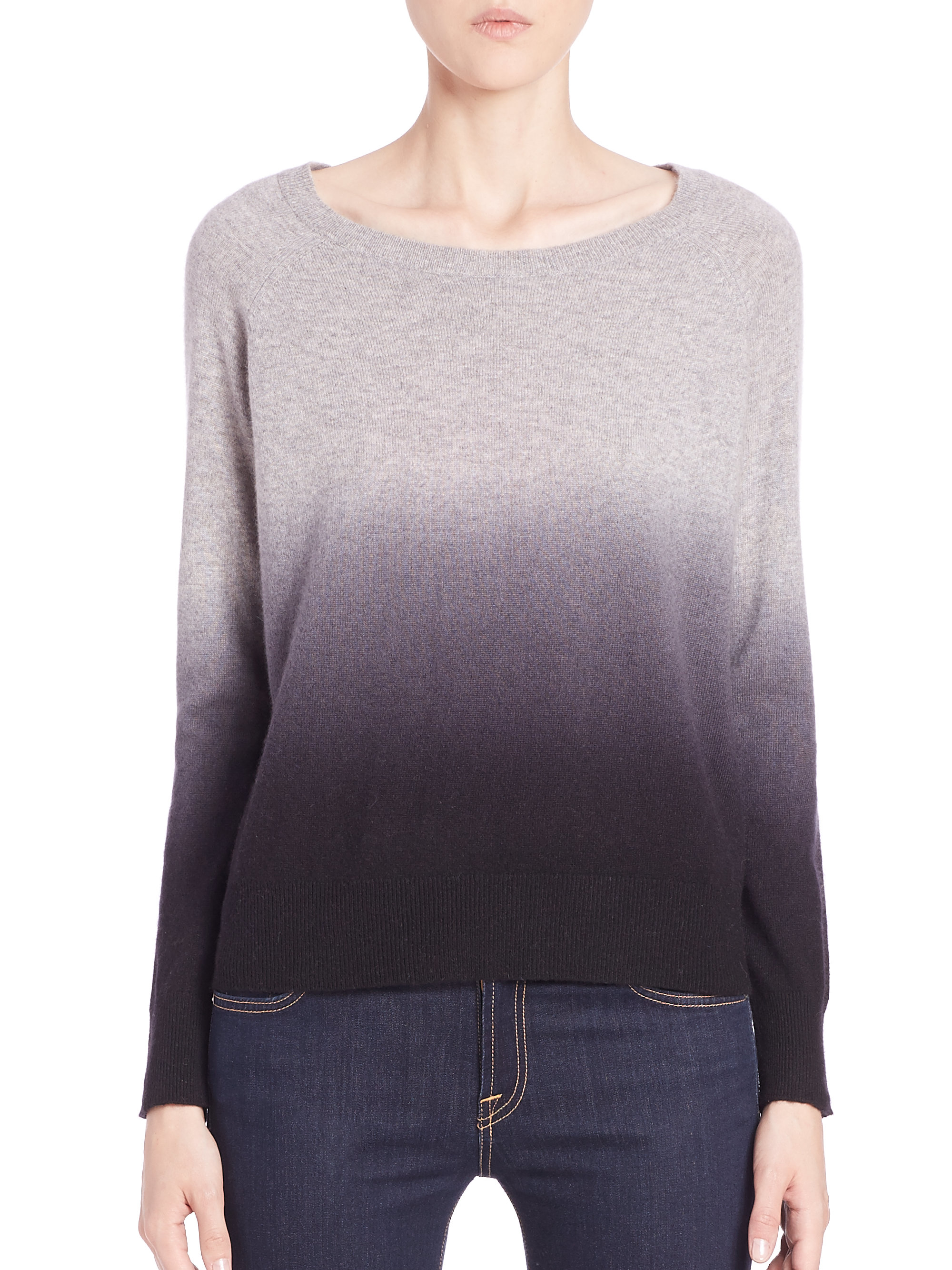 360cashmere Skull Cashmere Ombré Sweater in Gray | Lyst