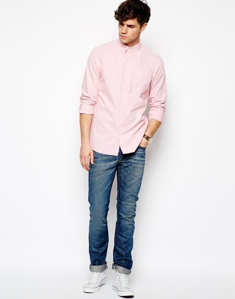 Jack wills wadsworth oxford shirt in pink for men lyst for Pink oxford shirt men