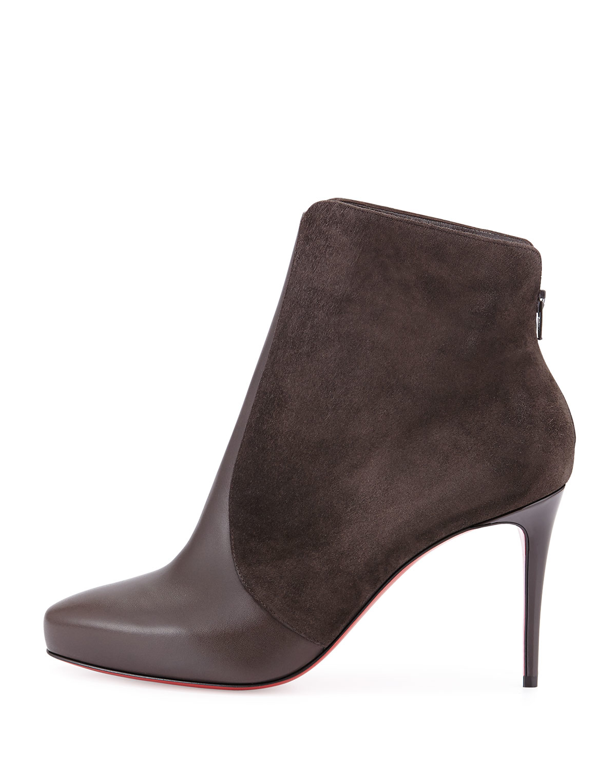 louboutins price - Christian louboutin Gaetanina Paneled Red Sole Bootie in Brown ...