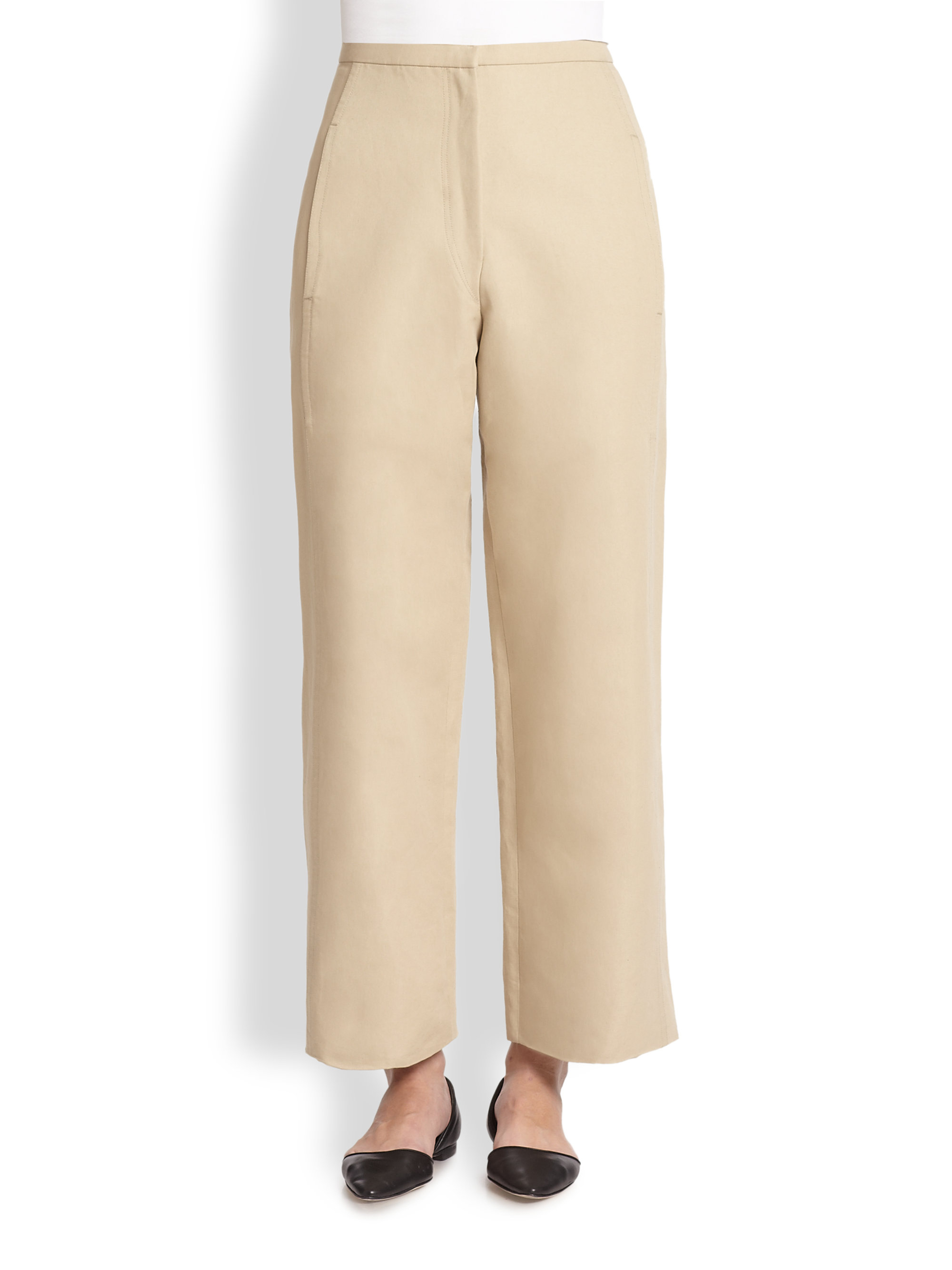 Wool-twill Wide-leg Pants - Navy Christophe Lemaire eTQY8Blz