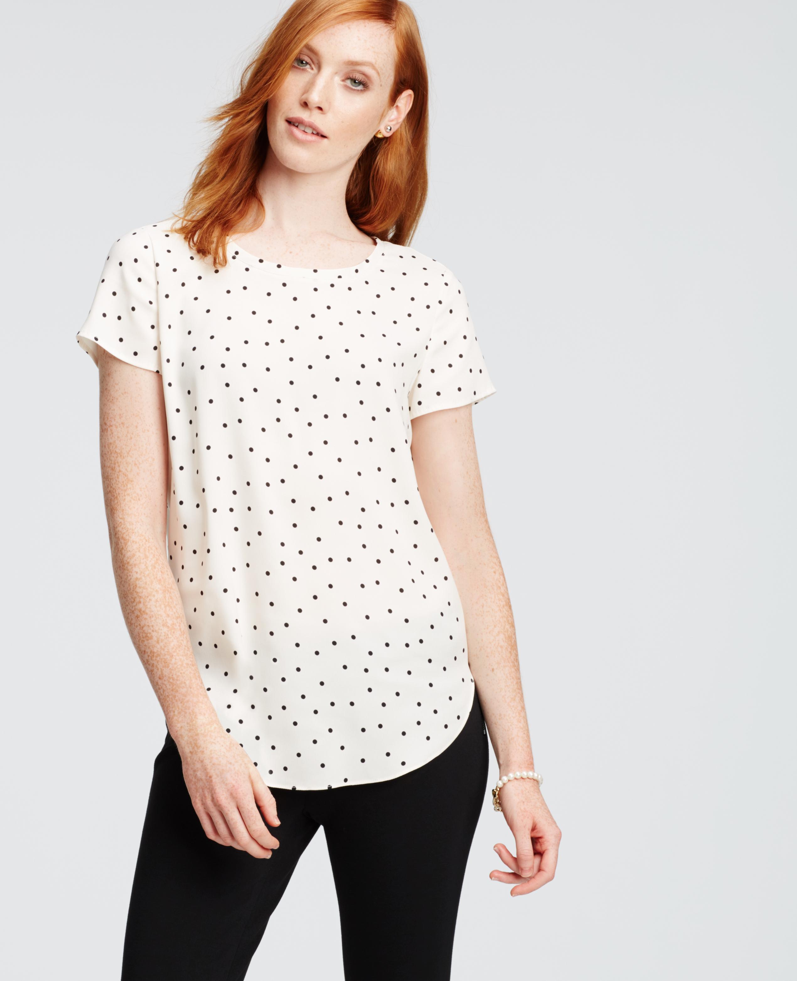 Short Sleeve Polka Dot Blouse Breeze Clothing