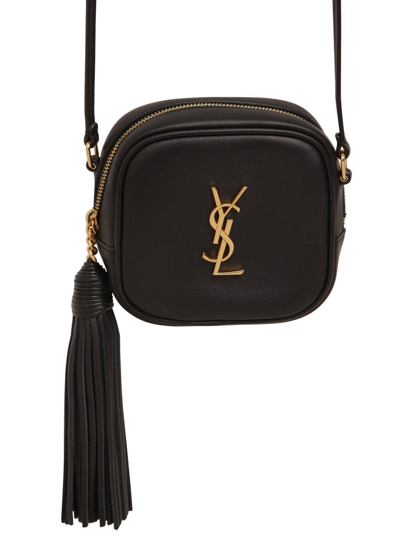 e10324e3bbb7 ... Saint Laurent Monogram Leather Shoulder Bag W Tassel in Blac on sale  d4203 a1a42 ...