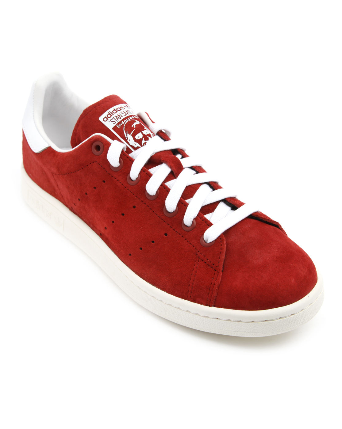 adidas stan smith red suede sneakers in red for men lyst. Black Bedroom Furniture Sets. Home Design Ideas