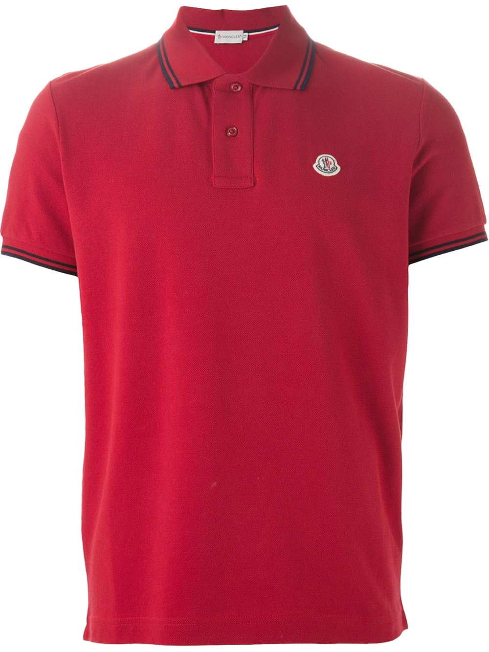 Moncler Classic Polo Shirt In Red For Men Lyst