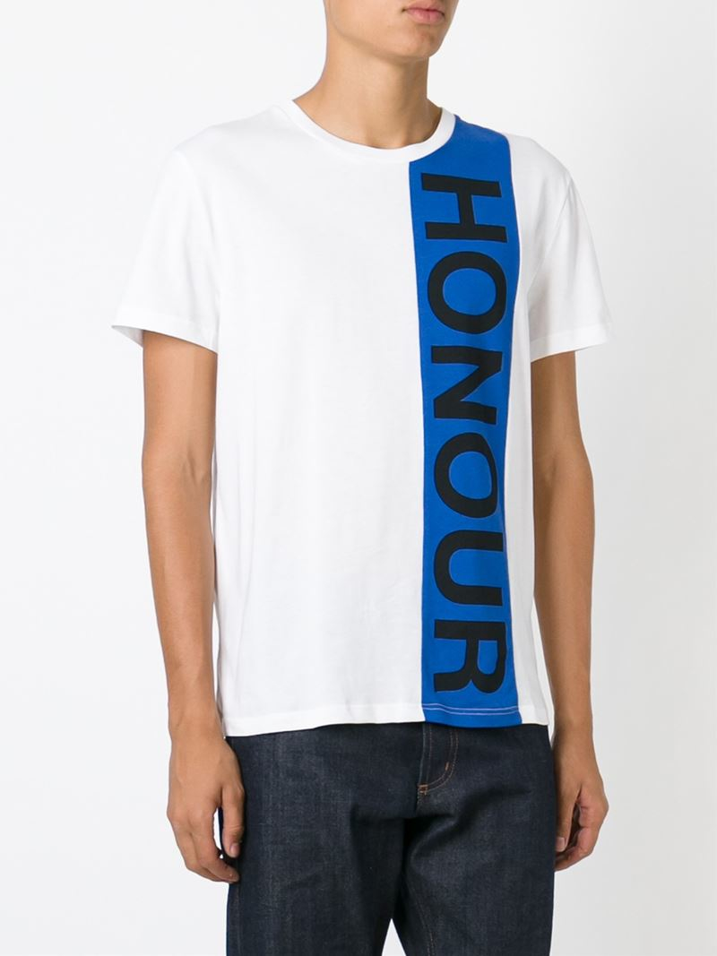 Alexander mcqueen honour print t shirt in blue for men lyst for Alexander mcqueen shirt men
