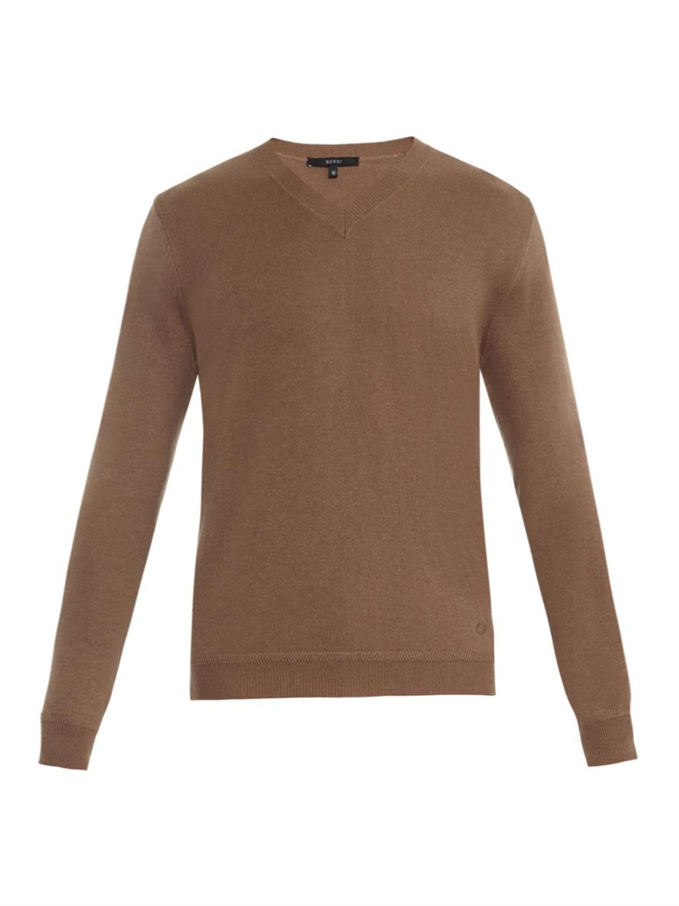 Gucci V-neck Cashmere Sweater in Brown for Men | Lyst