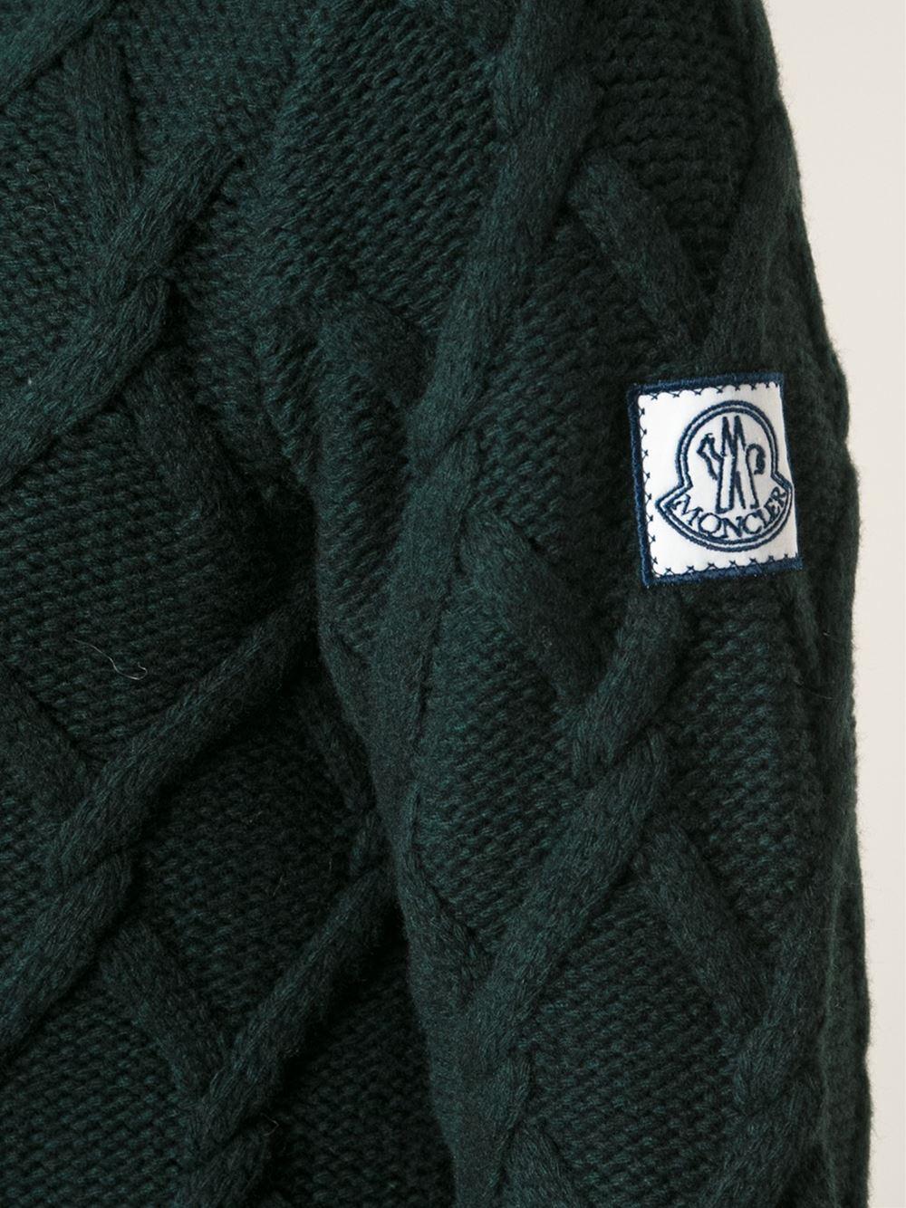 moncler green sweater