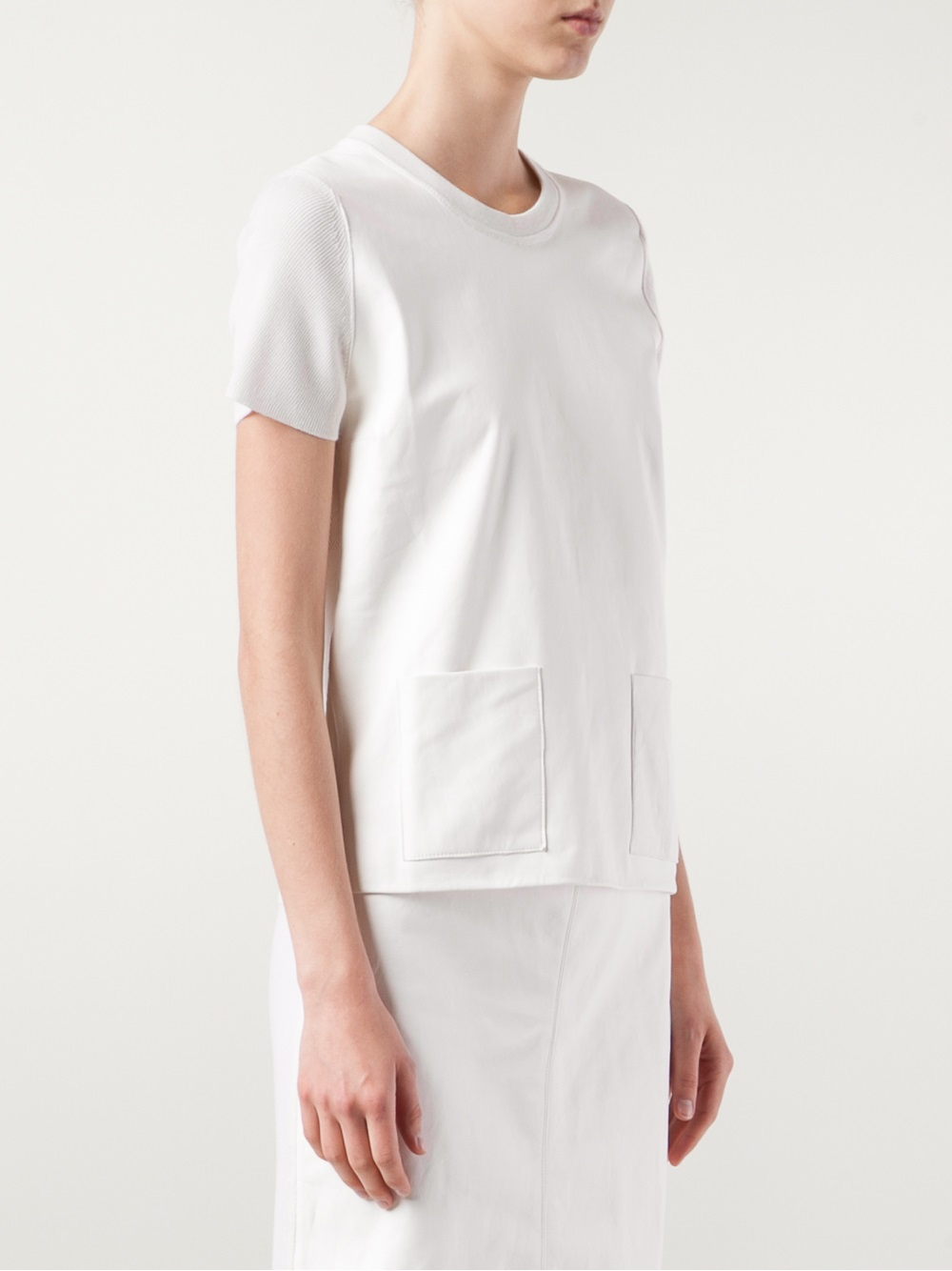 lyst calvin klein michelle tshirt in white. Black Bedroom Furniture Sets. Home Design Ideas