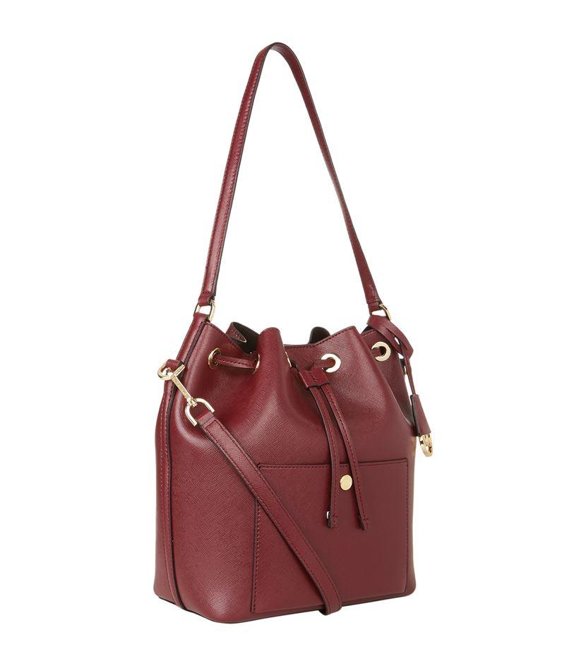 MICHAEL Michael Kors Greenwich Leather Bucket Bag in Purple - Lyst a3fc115127a3b