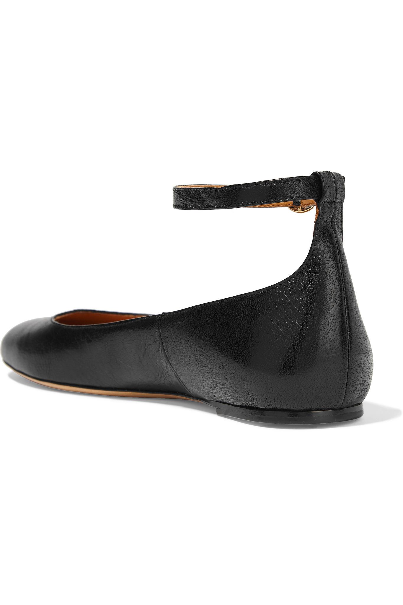 3ca67fa2b0212 Isabel Marant Étoile Lili Leather Ballet Flats in Black - Lyst