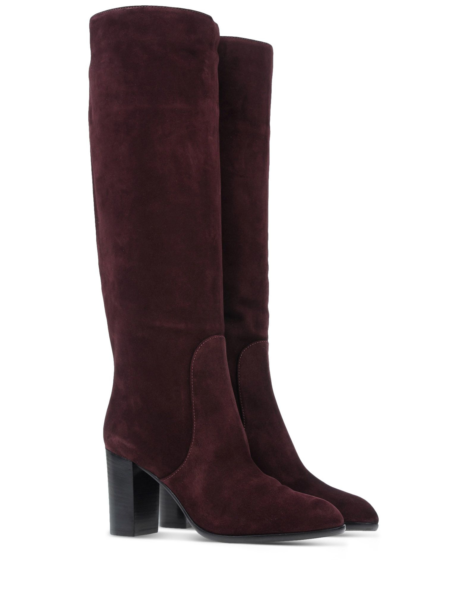 sergio rossi suede boots in purple deep purple lyst. Black Bedroom Furniture Sets. Home Design Ideas