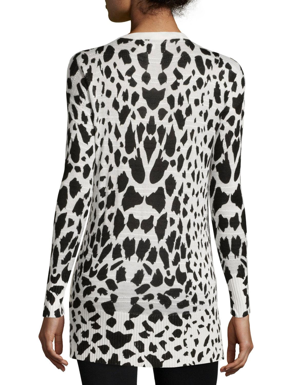John   jenn V-neck Leopard-print Sweater | Lyst
