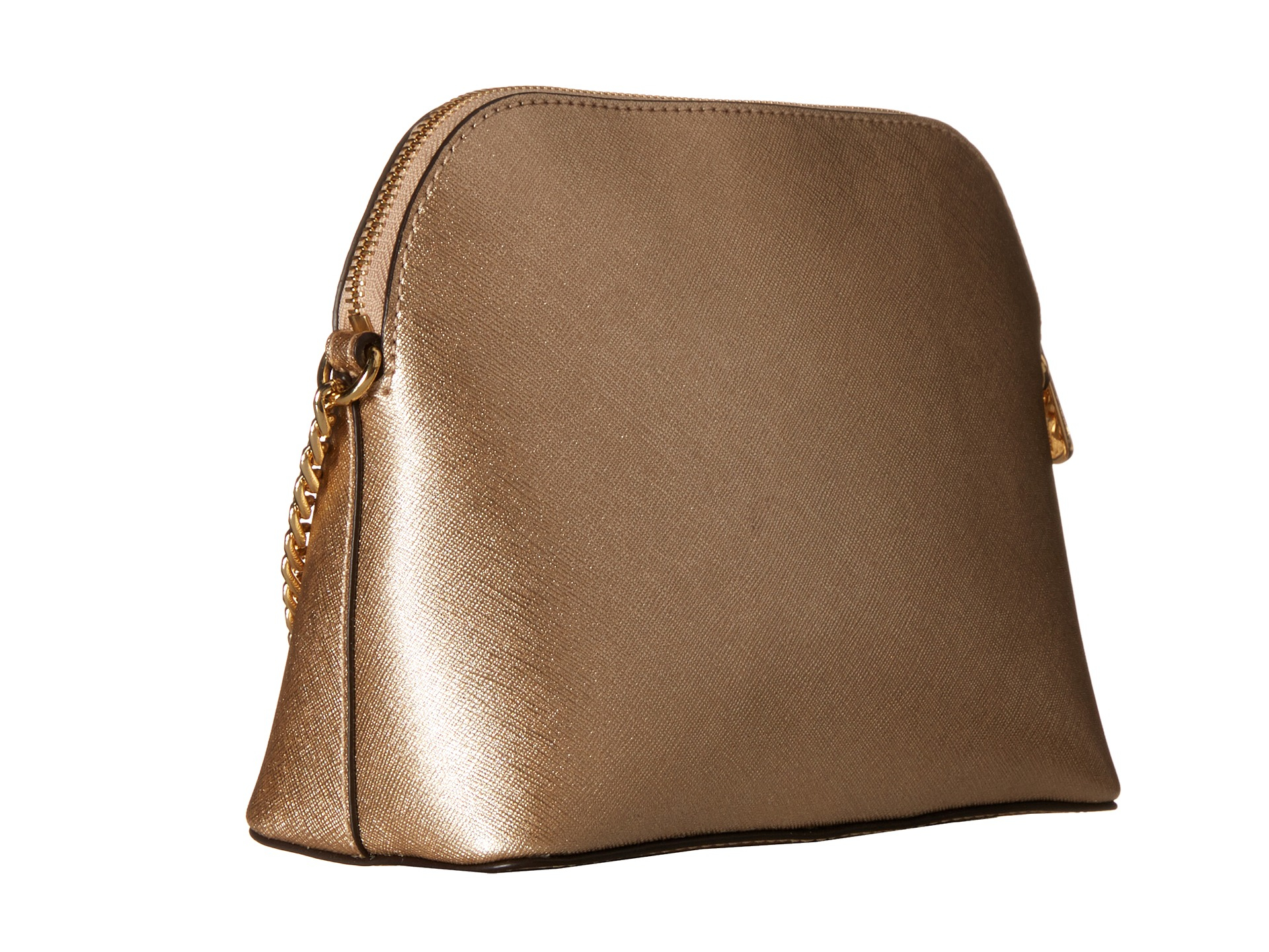 michael michael kors cindy large dome crossbody in brown