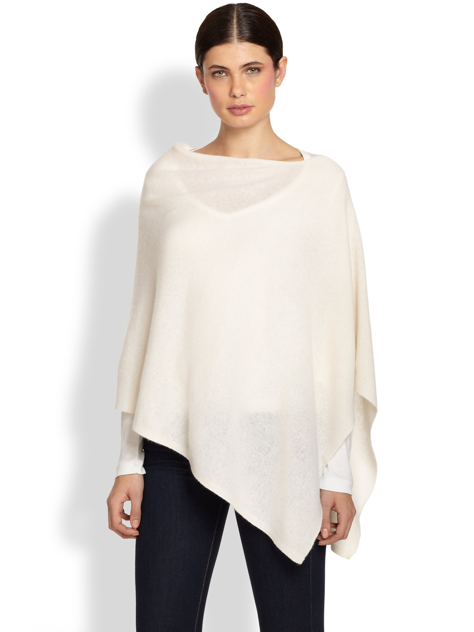 White And Warren Cashmere Poncho White Warren Cashmere Twoway