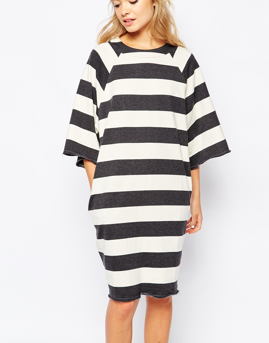 Sales promotion limited quantity special promotion Monki Oversized Striped Jumper Dress - Lyst