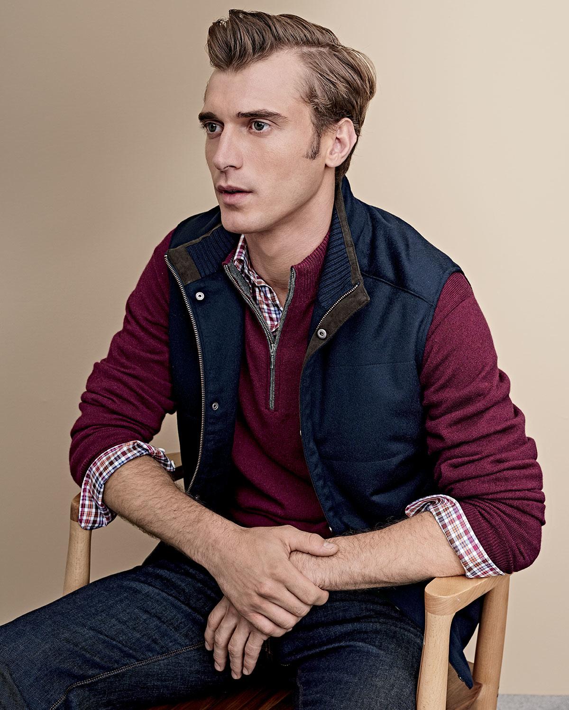 Peter millar Devon Wool-blend Quilted Vest in Black for Men | Lyst : peter millar quilted vest - Adamdwight.com