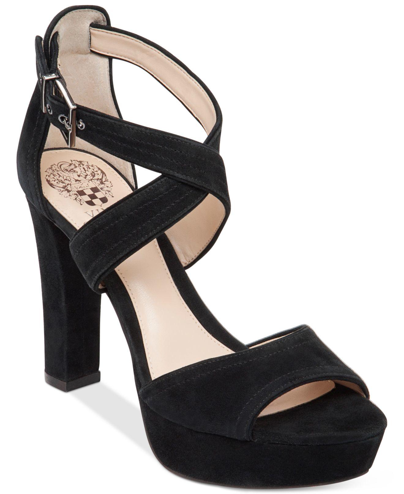 Vince Camuto Shayla Platform Sandals In Black Lyst