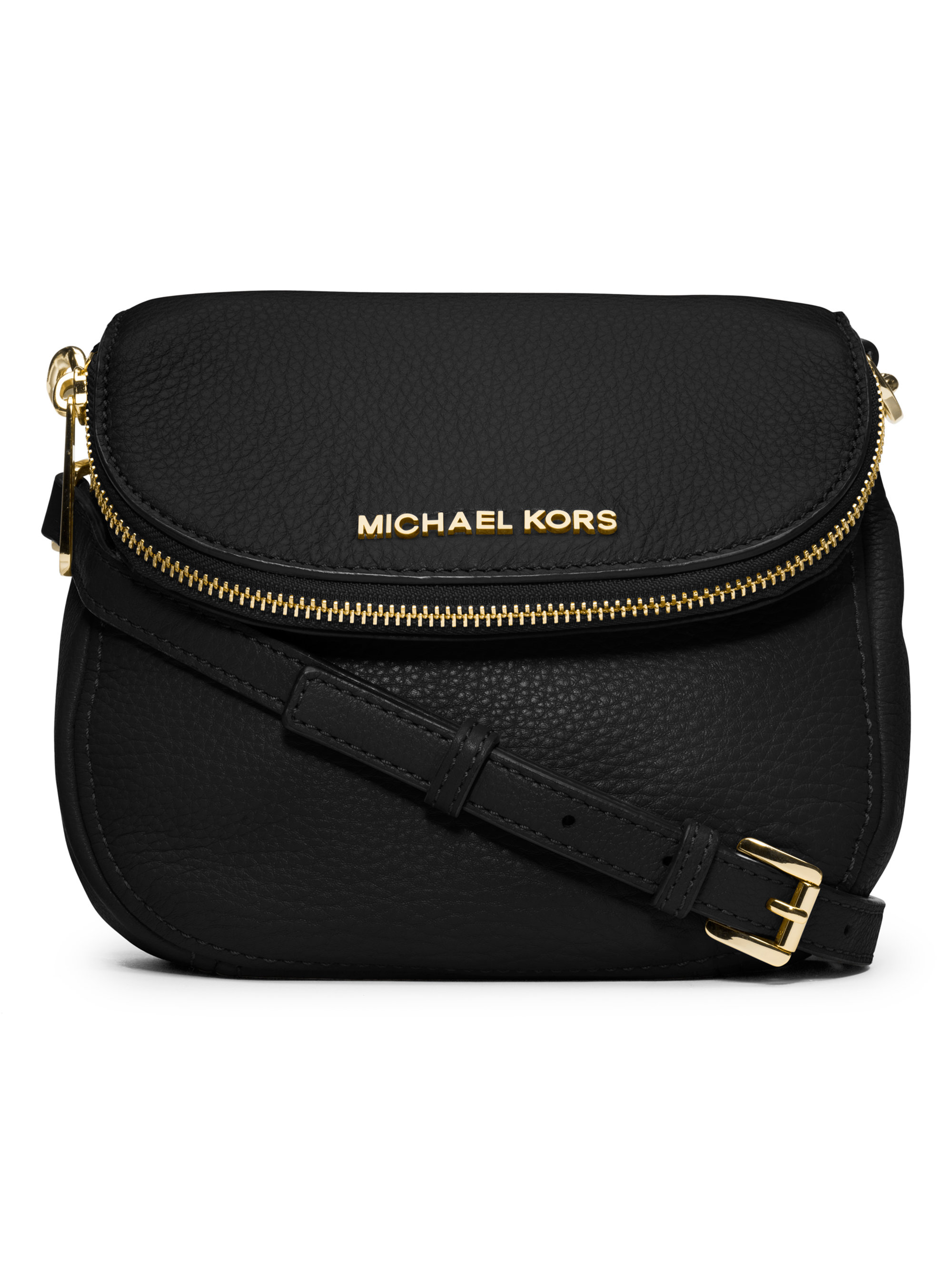 7aedd49611c4dc MICHAEL Michael Kors Bedford Small Leather Crossbody Bag in Black - Lyst
