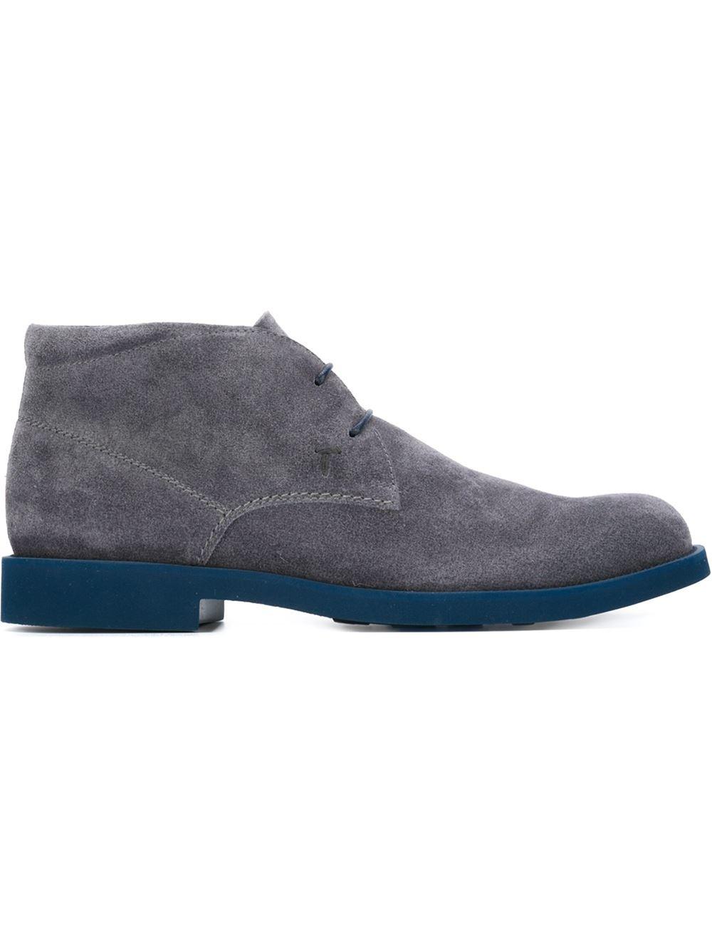 tod 39 s desert boots in blue for men lyst. Black Bedroom Furniture Sets. Home Design Ideas