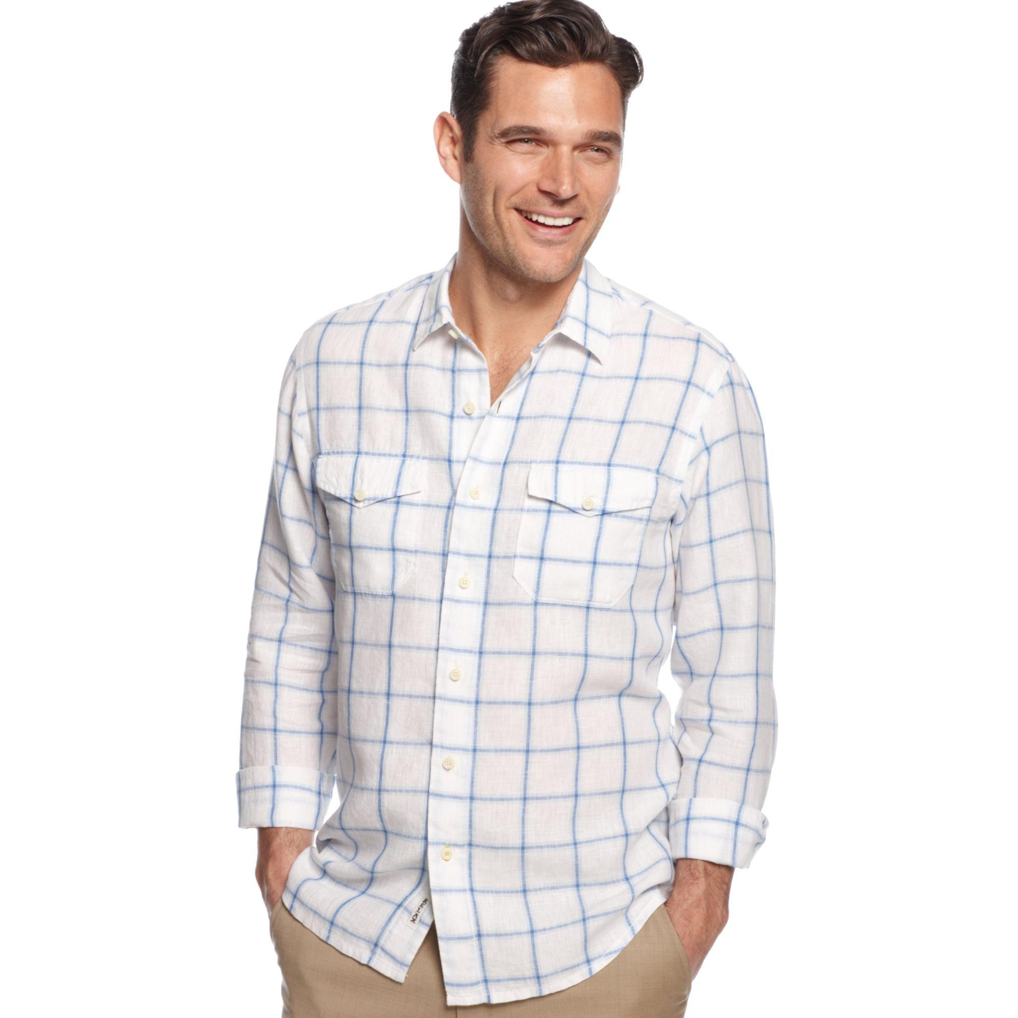 tommy bahama long sleeve montauk breezer linen shirt in white for men lyst. Black Bedroom Furniture Sets. Home Design Ideas
