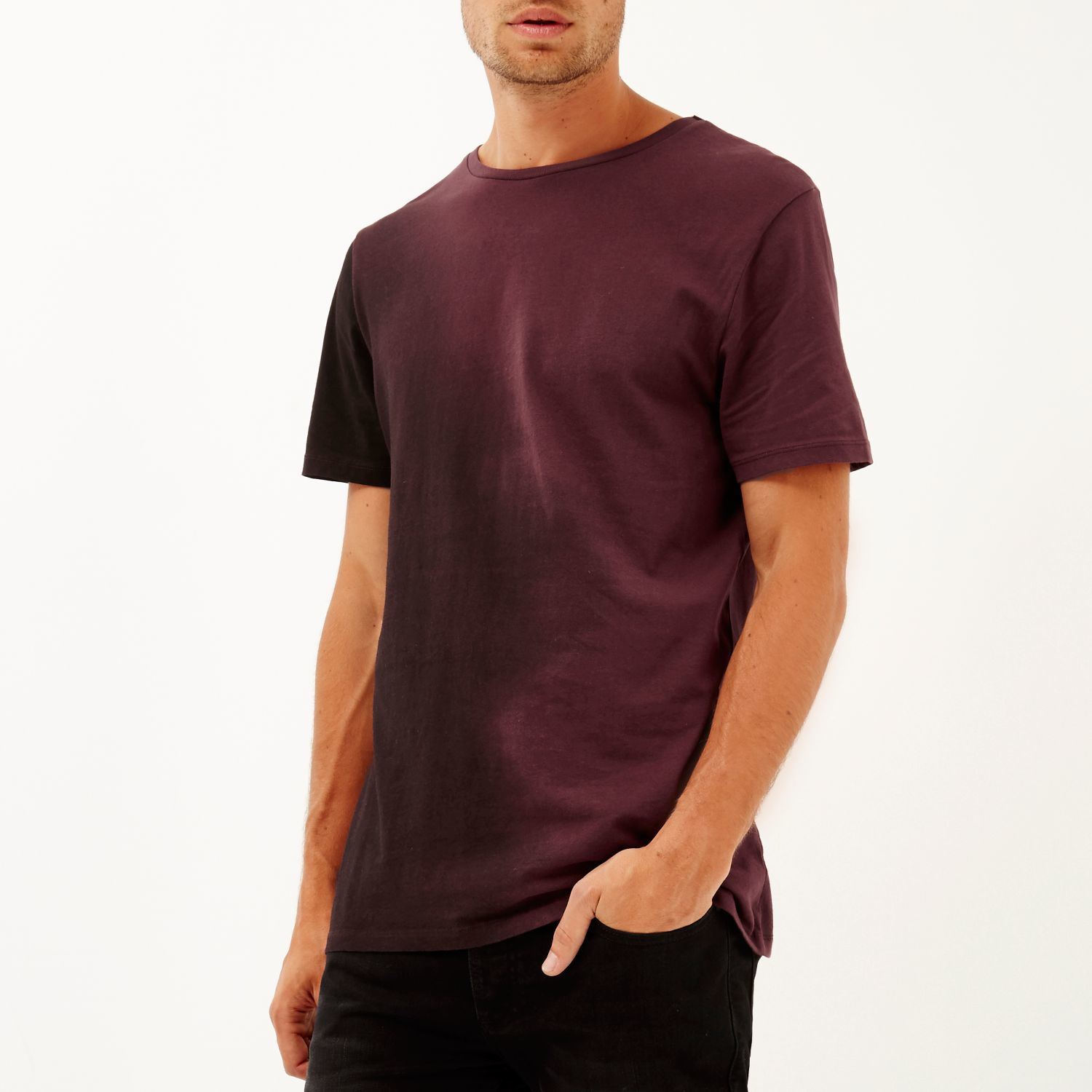 Lyst River Island Red Faded Side T Shirt In Purple For Men
