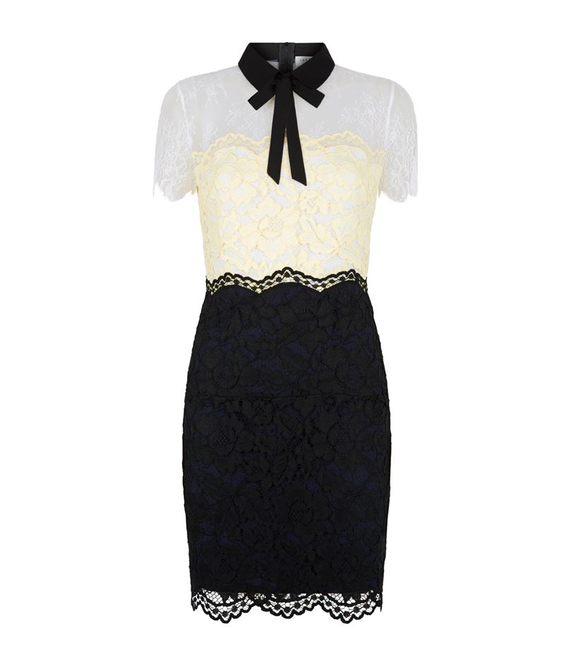 Sandro three color lace dress