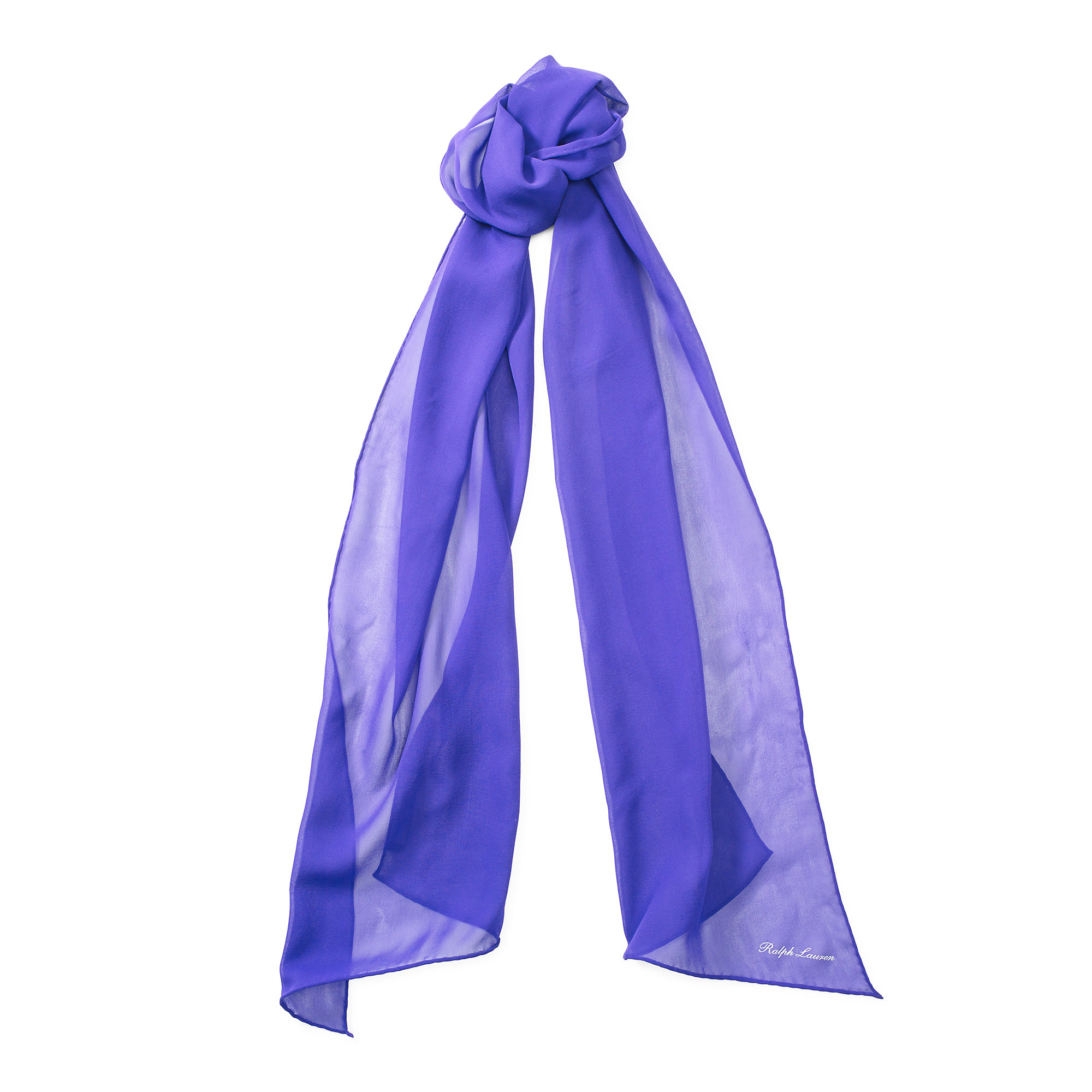 pink pony silk georgette scarf in blue lyst