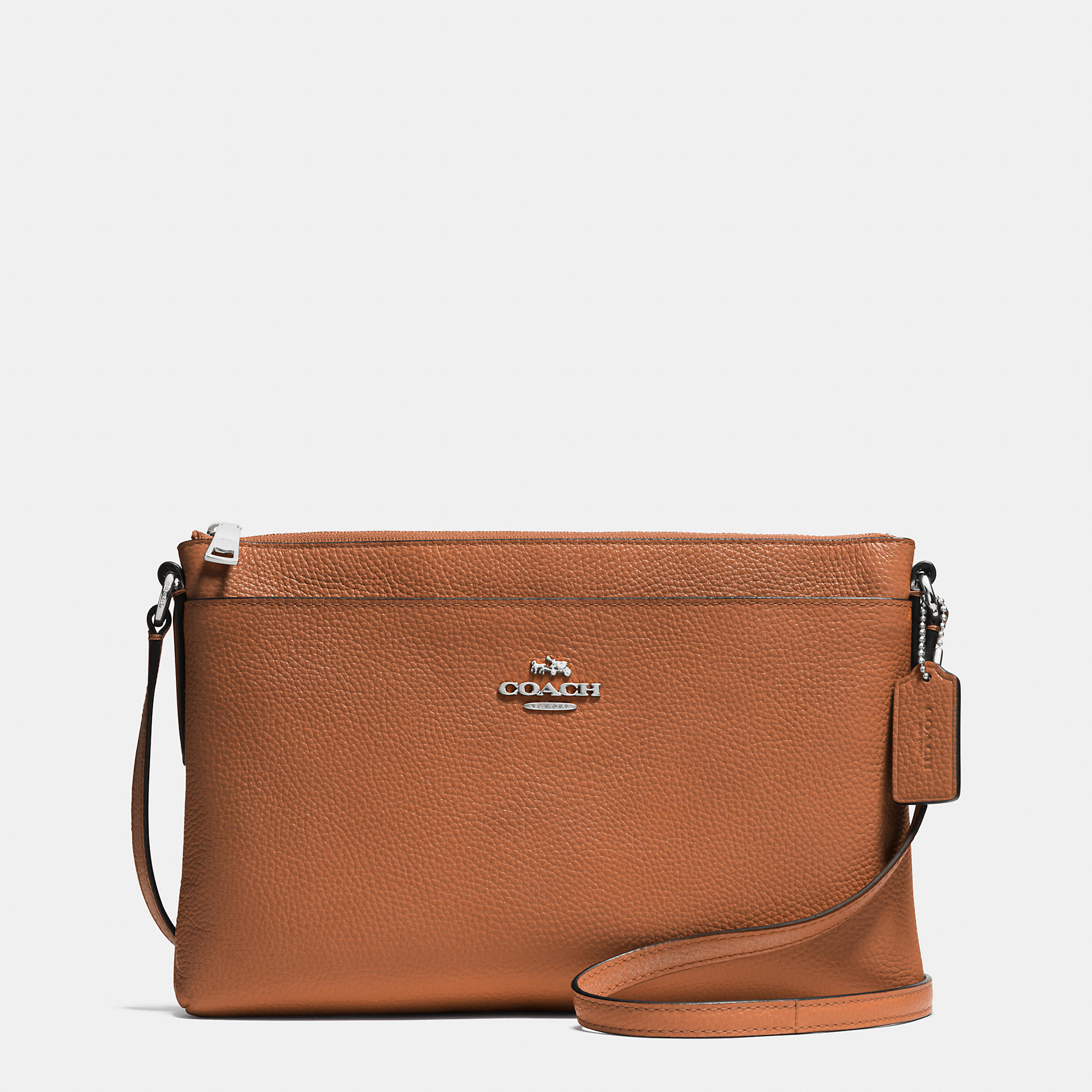 1485f20e57d ... sweden lyst coach journal crossbody in pebble leather in brown f13d9  d9239